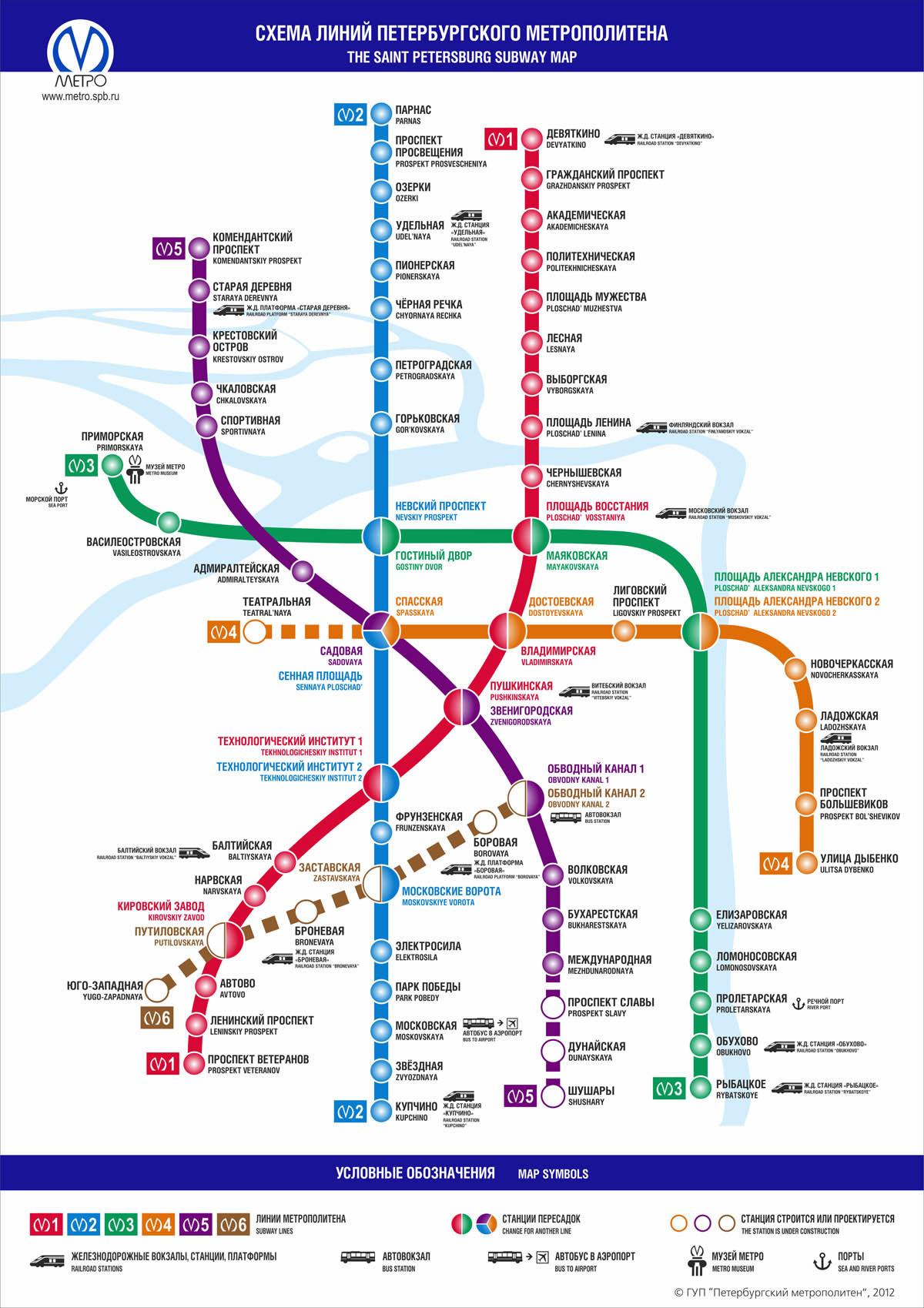 Схема, карта метро